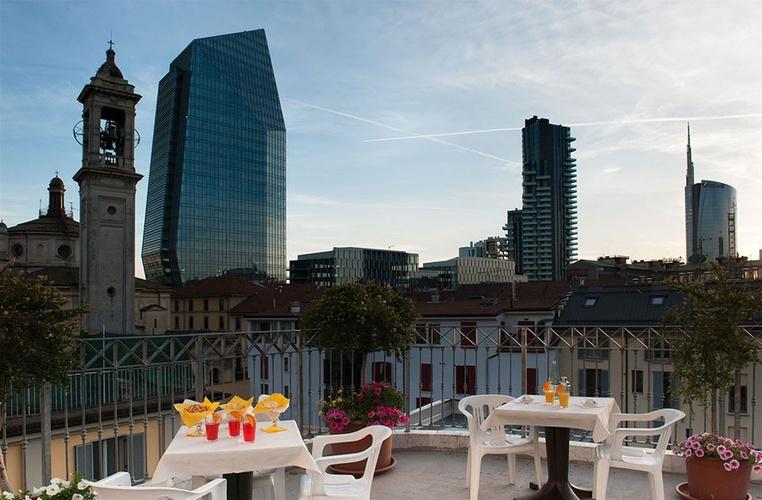 Terraza hotel marconi milán